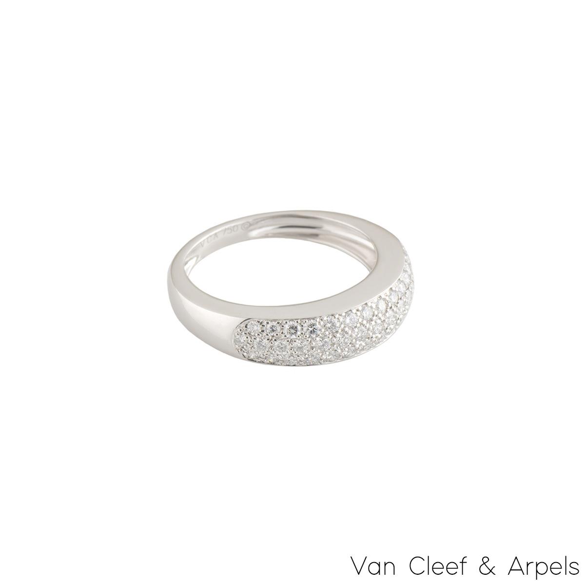 Van Cleef & Arpels White Gold Diamond Ring 0.56ct